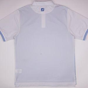 FootJoy Shirts - FootJoy Large Polo Shirt Blue White Athletic Fit G